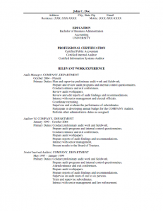 Manager Resume 1 - Before