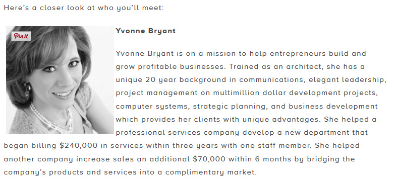 How to create your professional speaker biography yvonne bryant yvonne bryant biography up global breckenridge startup weekend accmission Choice Image